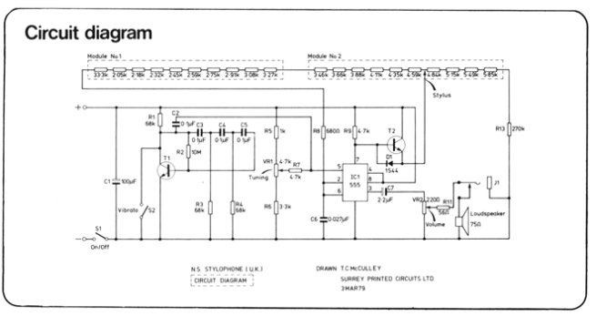 New Sound Stylophone Circuit Diagram sm