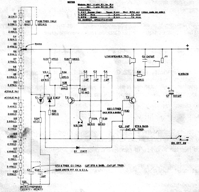 Stylophone schematic 2