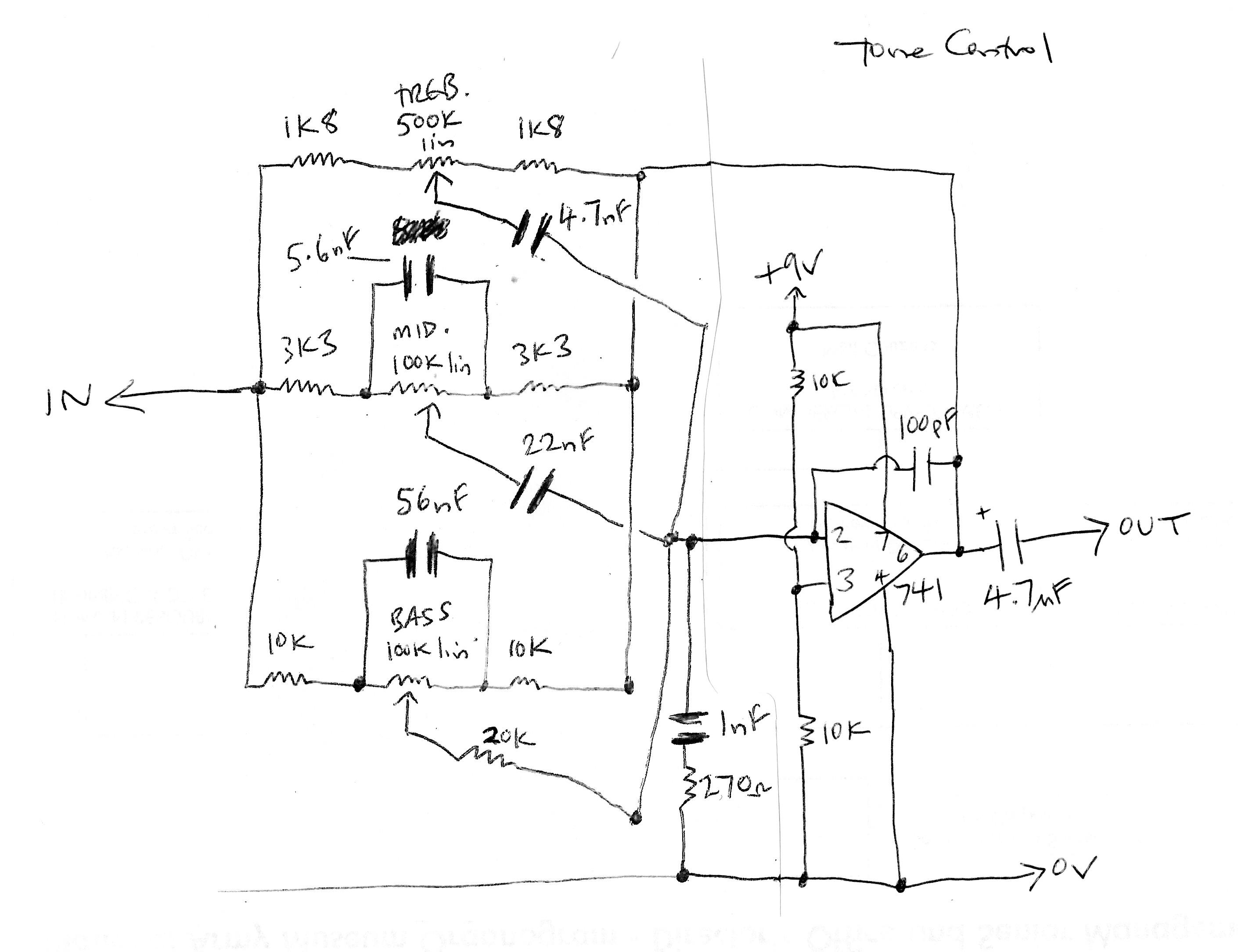 Construction Music Electronics Page 2 Tremolo Effect Circuit Using Ua741 3 Way Tone Control