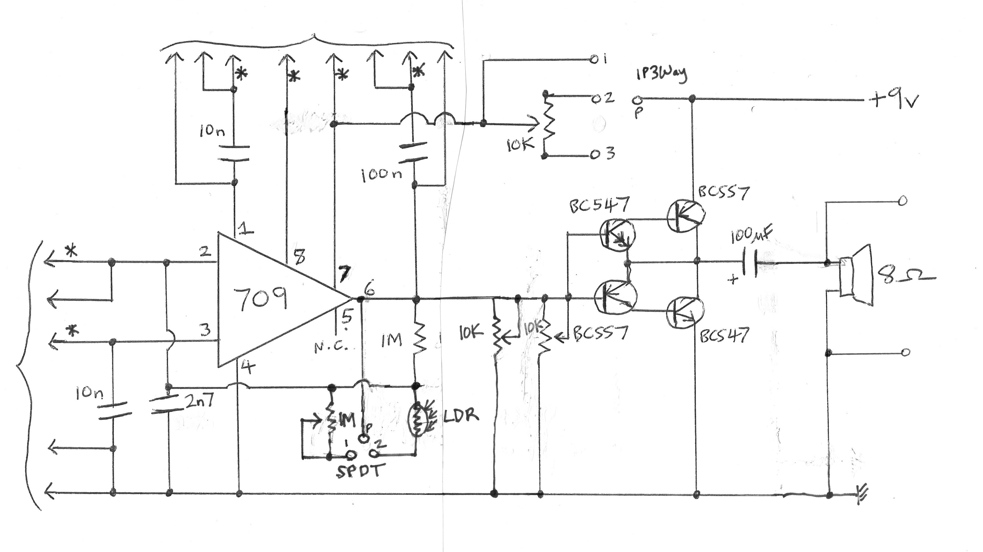 The Cracklephone Music Electronics Ldr Circuit Diagram 9v Circuit3