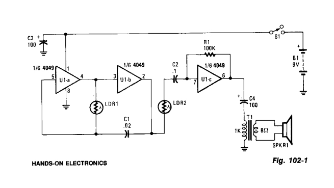Optical Theremin circuit
