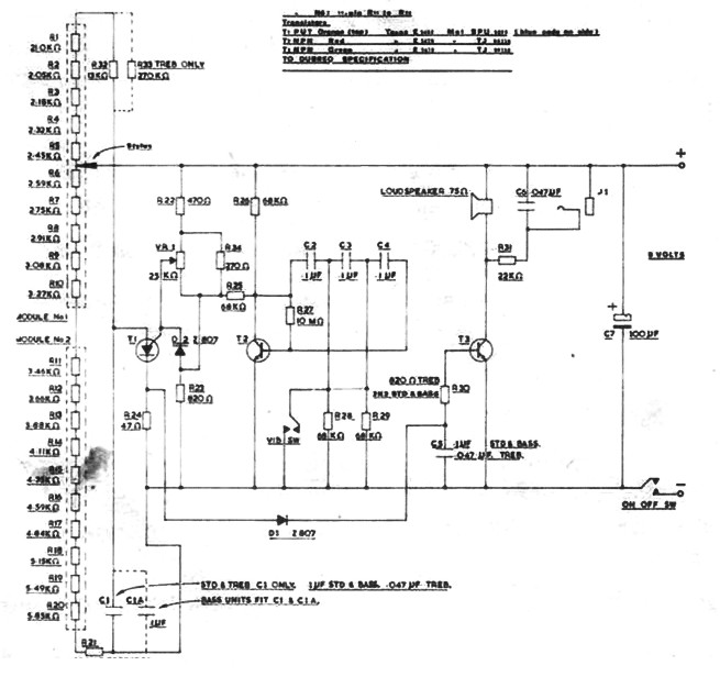 Original Stylophone circuit