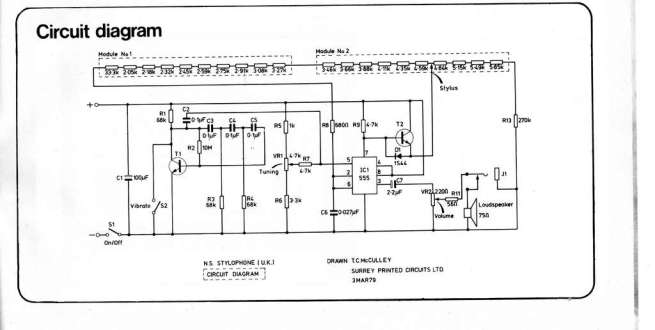 555-based Stylophone circuit.LARGE