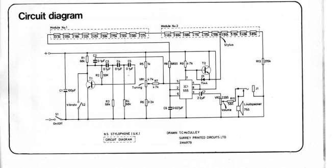 555-based Stylophone circuit.LARGE