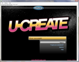 UCreate portal screen 2