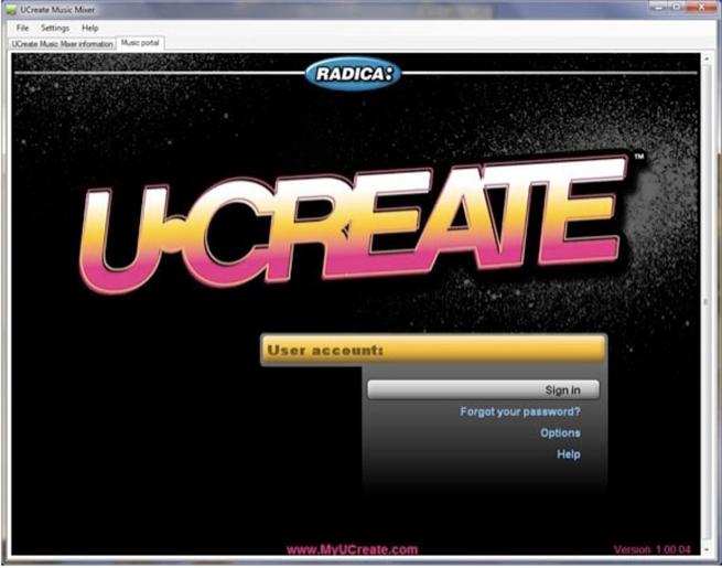 UCreate portal screen 2
