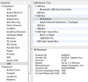 system profiler ir receiver2