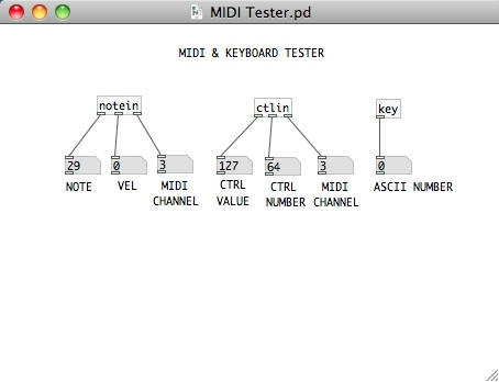 MIDI Monitor Notes