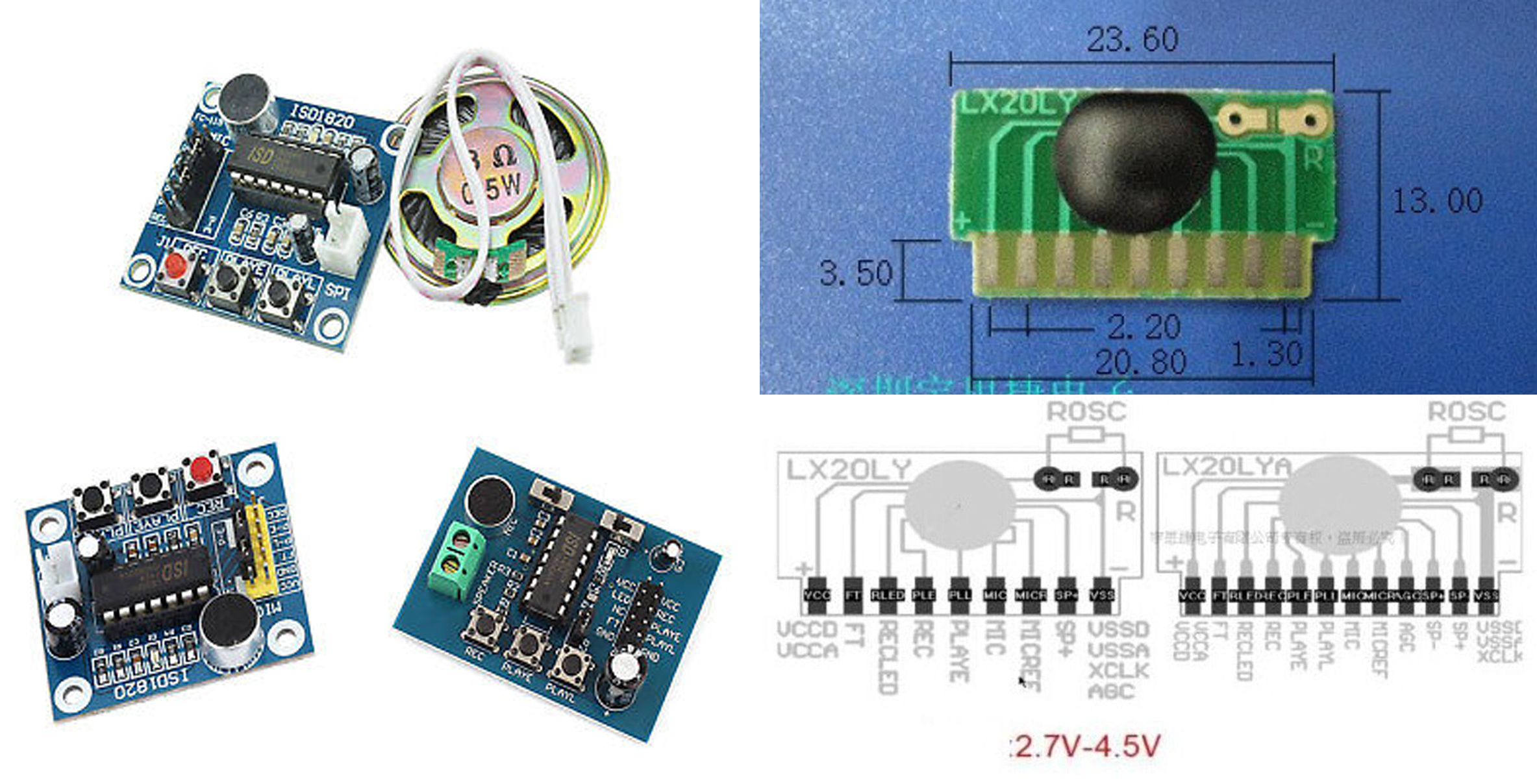 Construction Music Electronics Http Circuitdiagramhqewnet Adjustablevoltageregulatorcircuit These Are Very Reasonably Priced At 1 Or Less Although Not Nearly As Cheap My Voice Recorder Boards Long I Could Get Them To Work In The Way